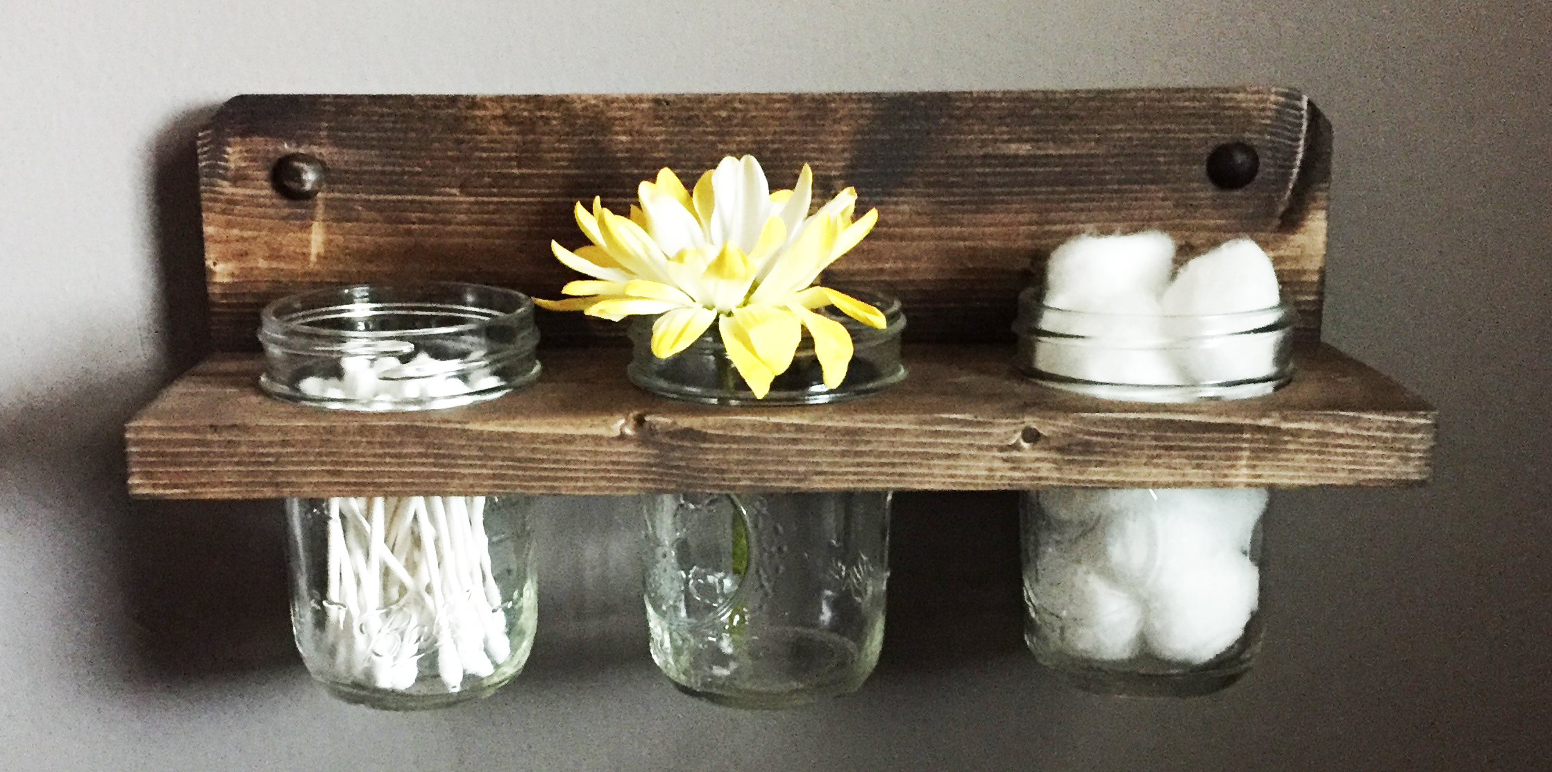 Mason Jar Shelf