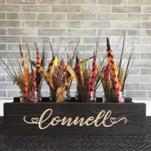 Personalized Handcrafted Centerpiece